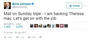 boris johnson leadership tweet